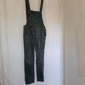 FREE PEOPLE Distressed Corduroy Overalls Romper